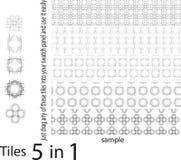 Άνευ ραφής σχέδια των διαφορετικών μοναδικών μορφών, σύνολο μοναδικού και Στοκ Φωτογραφίες