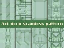 Άνευ ραφής σχέδια deco τέχνης Το σχέδιο των γραμμών και των γεωμετρικών μορφών Η δεκαετία του '20 ύφους, η δεκαετία του '30 επίση διανυσματική απεικόνιση