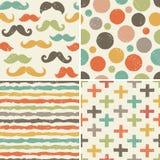 Άνευ ραφής σχέδια hipster στα αναδρομικά χρώματα απεικόνιση αποθεμάτων