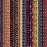 Άνευ ραφής σχέδιο έθνους Ύφος Boho εθνική ταπετσαρία Φυλετική τυπωμένη ύλη τέχνης Παλαιά αφηρημένη σύσταση υποβάθρου συνόρων Στοκ Εικόνες
