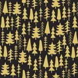 Άνευ ραφής σχέδιο δέντρων του FIR ζωηρόχρωμο Στοκ φωτογραφία με δικαίωμα ελεύθερης χρήσης