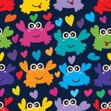 Άνευ ραφής σχέδιο αγάπης καβουριών Στοκ Φωτογραφίες