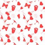 Άνευ ραφής σχέδιο αγάπης στο ύφος doodle ελεύθερη απεικόνιση δικαιώματος