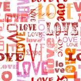 Άνευ ραφής σχέδιο αγάπης, Στοκ φωτογραφία με δικαίωμα ελεύθερης χρήσης