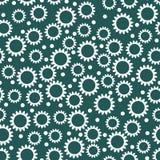 Άνευ ραφής σχέδιο αντίθεσης με τα μικρά λουλούδια Στοκ Εικόνα