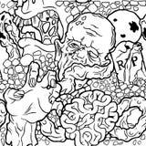 Άνευ ραφής σχέδιο αποκριών με το zombie Στοκ Εικόνα