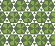 Άνευ ραφής σχέδιο από τα απλά τριγωνικά στοιχεία Στοκ Εικόνες