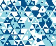 Άνευ ραφής σχέδιο από τα απλά τριγωνικά στοιχεία Στοκ Εικόνα