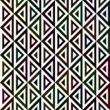 Άνευ ραφής σχέδιο από τα τρίγωνα στα διαφορετικά χρώματα Στοκ Εικόνες