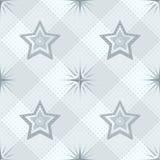 Άνευ ραφής σχέδιο, αστέρια και ελεγμένος Στοκ Εικόνες