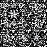 Άνευ ραφής σχέδιο αστεριών μπατίκ Στοκ Εικόνες