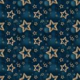 Άνευ ραφής σχέδιο 2 αστεριών νύχτας Στοκ Φωτογραφία