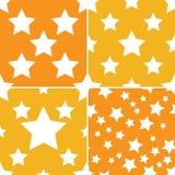 Άνευ ραφής σχέδιο 4 αστεριών ύφος Στοκ Φωτογραφία