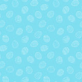 Άνευ ραφής σχέδιο αυγών Πάσχας στο ύφος doodle Συρμένη χέρι διανυσματική απεικόνιση διανυσματική απεικόνιση