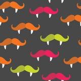 Άνευ ραφής σχέδιο βαμπίρ mustache Στοκ φωτογραφίες με δικαίωμα ελεύθερης χρήσης