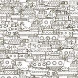Άνευ ραφής σχέδιο βαρκών Doodle Στοκ φωτογραφία με δικαίωμα ελεύθερης χρήσης