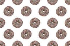 Άνευ ραφής σχέδιο βερνικωμένου Chockolate Donuts Στοκ Εικόνες