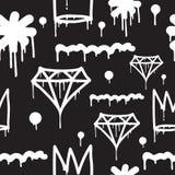Άνευ ραφής σχέδιο γκράφιτι Στοκ Εικόνα