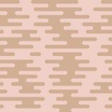 Άνευ ραφής σχέδιο γραμμών κυματισμών ανώμαλο στρογγυλευμένο Στοκ Εικόνα