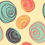 Άνευ ραφής σχέδιο γραμμών κύκλων Στοκ Εικόνες