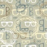 Άνευ ραφής σχέδιο γυαλιών Hipster Στοκ Εικόνα