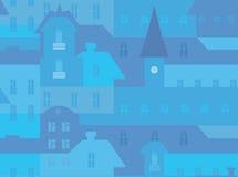 Άνευ ραφής σχέδιο εικονικής παράστασης πόλης Στοκ εικόνες με δικαίωμα ελεύθερης χρήσης