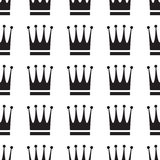 Άνευ ραφής σχέδιο εικονιδίων κορωνών Στοκ Φωτογραφία