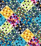 Άνευ ραφής σχέδιο επανάληψης των χρωματισμένων τετραγώνων διάνυσμα Στοκ εικόνες με δικαίωμα ελεύθερης χρήσης