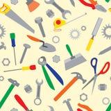 Άνευ ραφής σχέδιο εργαλείων χεριών Στοκ εικόνες με δικαίωμα ελεύθερης χρήσης