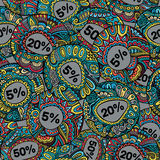 Άνευ ραφής σχέδιο ετικετών πώλησης διακοσμητικό διανυσματικό Στοκ φωτογραφία με δικαίωμα ελεύθερης χρήσης