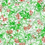 Άνευ ραφής σχέδιο ελαιόπρινου Χριστουγέννων διανυσματική απεικόνιση