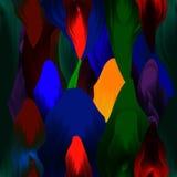 Άνευ ραφής σχέδιο - ζωηρόχρωμα κτυπήματα βουρτσών Όμορφα σκοτεινά χρώματα Στοκ Εικόνα