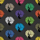 Άνευ ραφής σχέδιο, ζωηρόχρωμο δέντρο Στοκ φωτογραφία με δικαίωμα ελεύθερης χρήσης