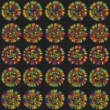 Άνευ ραφής σχέδιο ηλίανθων Zentangle Στοκ Εικόνα