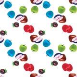 άνευ ραφής σχέδιο θερινών φρούτων αχλαδιών μήλων Στοκ Φωτογραφία