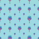 Άνευ ραφής σχέδιο διακοπών με τα πολύχρωμα μπαλόνια αέρα Έννοια σχεδίου για τις κάρτες δώρων, ευχετήριες κάρτες γενεθλίων, φεστιβ Στοκ Φωτογραφίες