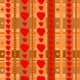 Άνευ ραφής σχέδιο διακοπών με τις καρδιές ελεύθερη απεικόνιση δικαιώματος