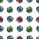 Άνευ ραφής σχέδιο διαμαντιών κινούμενων σχεδίων διανυσματική απεικόνιση