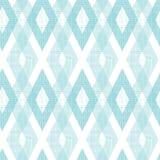 Άνευ ραφής σχέδιο διαμαντιών υφάσματος κρητιδογραφιών μπλε ikat Στοκ εικόνα με δικαίωμα ελεύθερης χρήσης
