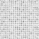 Άνευ ραφής σχέδιο διοικητικών μεριμνών doodle Στοκ Φωτογραφία
