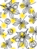 Άνευ ραφής σχέδιο κάστανων Στοκ Εικόνες
