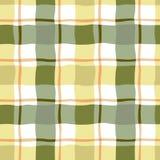Άνευ ραφής σχέδιο κίτρινου και πράσινου ελεγμένου Στοκ Φωτογραφία
