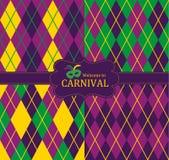 Άνευ ραφής σχέδιο καρναβαλιού Στοκ Εικόνες