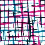 Άνευ ραφής σχέδιο καρό watercolor τολμηρό με τα ζωηρόχρωμα λωρίδες VE Στοκ εικόνες με δικαίωμα ελεύθερης χρήσης