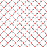 Άνευ ραφής σχέδιο καρδιών αγάπης Στοκ Φωτογραφία