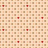 Άνευ ραφής σχέδιο καρδιών βαλεντίνων. Στοκ Φωτογραφίες