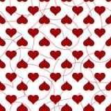 Άνευ ραφής σχέδιο καρδιών για την κάρτα ημέρας βαλεντίνων Στοκ Φωτογραφία