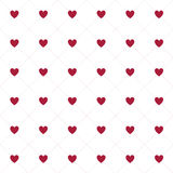 Άνευ ραφής σχέδιο καρδιών στο άσπρο υπόβαθρο Στοκ φωτογραφία με δικαίωμα ελεύθερης χρήσης