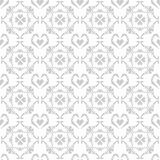 Άνευ ραφής σχέδιο καρδιών doodle στο άσπρο υπόβαθρο διανυσματική απεικόνιση