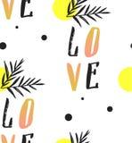 Άνευ ραφής σχέδιο κειμένων σημειώσεων αγάπης με τις καρδιές Υπόβαθρα κειμένων εφαρμόσιμα στην εκτύπωση, κλωστοϋφαντουργικά προϊόν Στοκ Εικόνες